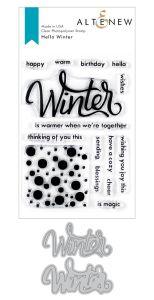 Hello Winter Stamp and Die Bundle