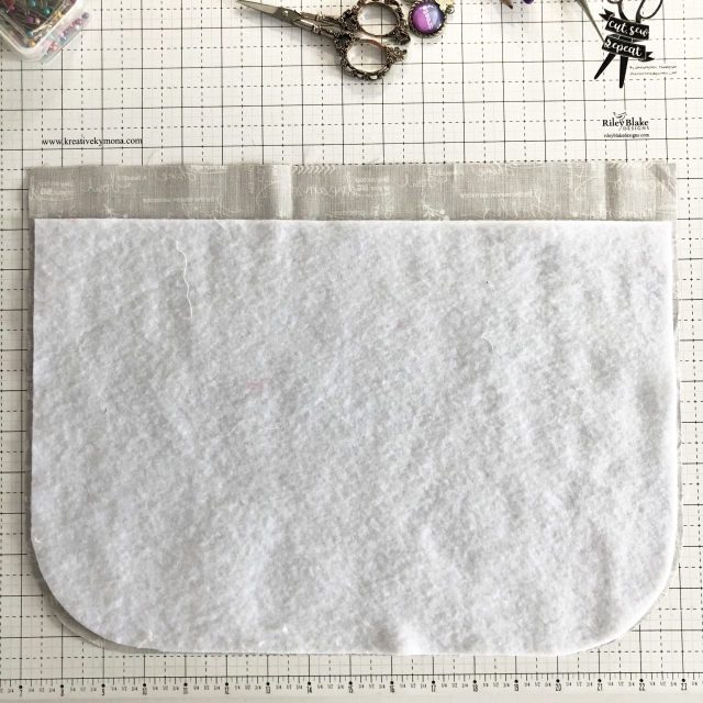 sew the fusible fleece