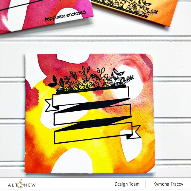 Envelope art stamp set