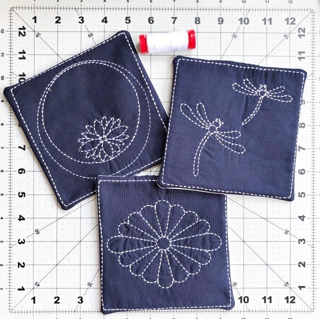 sashiko mu rug - aurifil 12wt thread