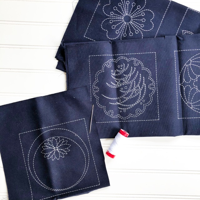 sashiko panels