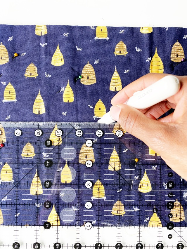 Quilted Travel Roll: Prepare the fabric for hand quilting