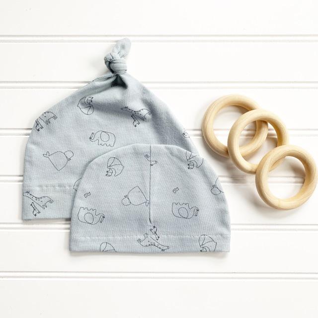 Baby Hat Designer Knit: Pair