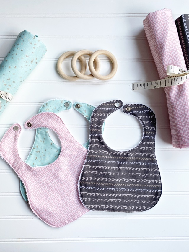 Easy To Make Baby Bibs: Finished Product