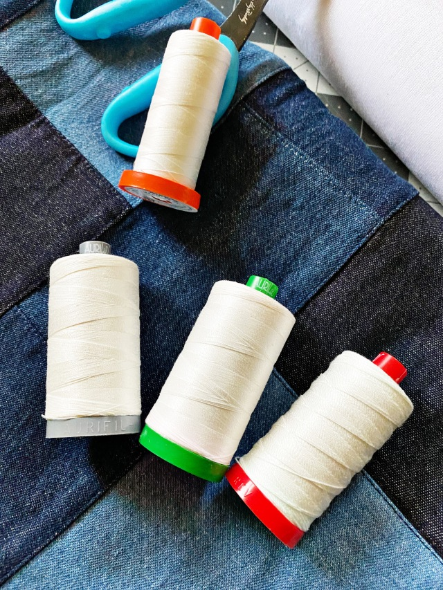 Decorate Pouch with Different Thread Weights: Materials