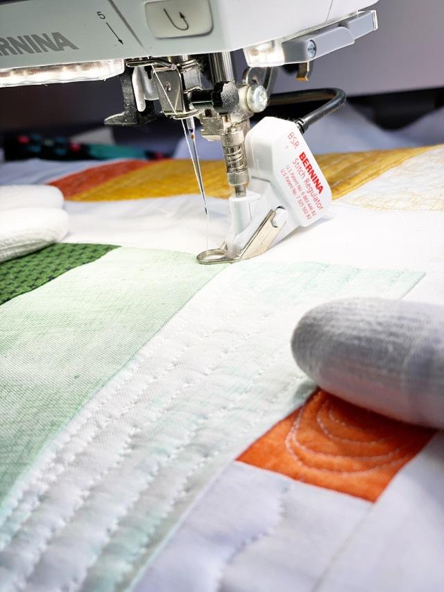 Garment District: Quilt the top