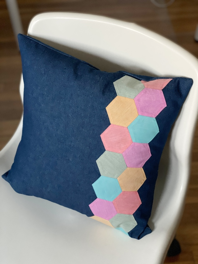 English Paper Piecing Hexagons: Finish Product