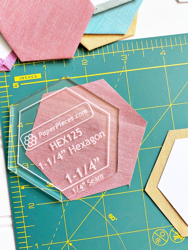 English Paper Piecing Hexagons: Cutting out the Hexagons