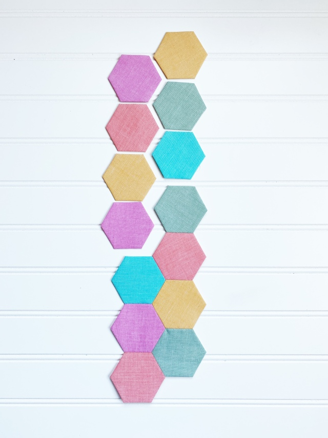 English Paper Piecing Hexagons: Stitch them together