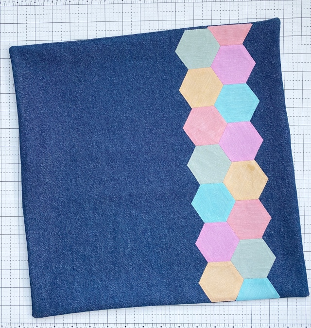 English Paper Piecing Hexagons: Sew the pillow sham