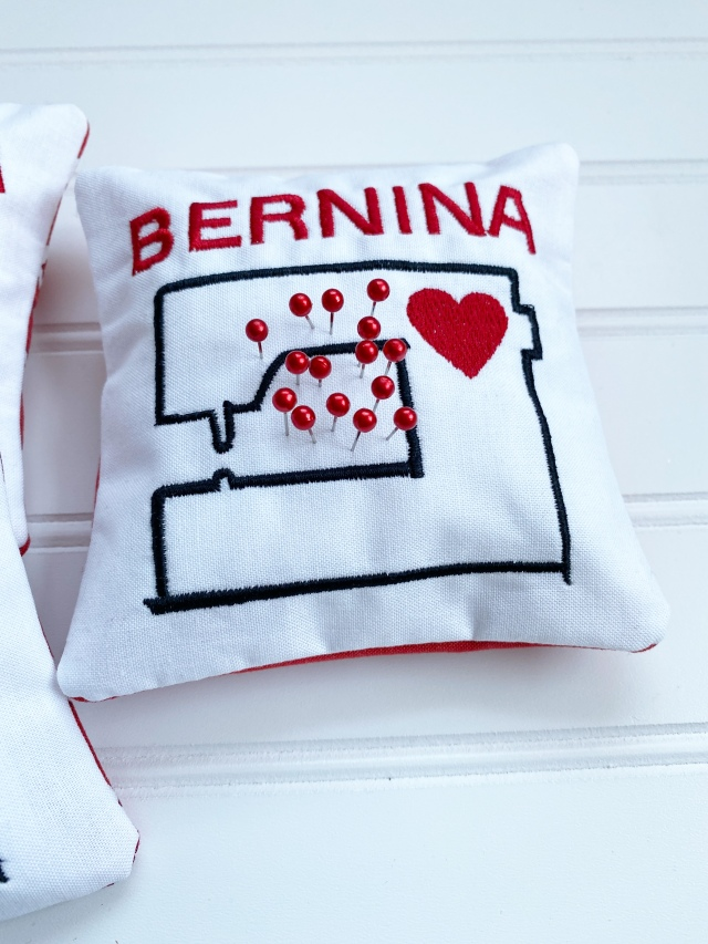 In the Hoop BERNINA Pincushion: Finished Product
