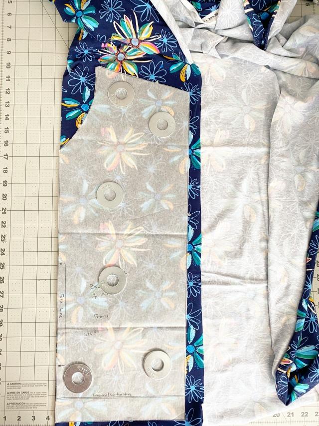 Jersey Knit Shirt: Pattern pieces