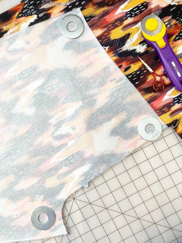 Jersey Knit Leggings: Cutting the pattern