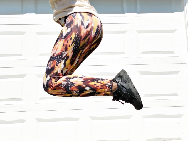 Jersey Knit Leggings: Finished Product